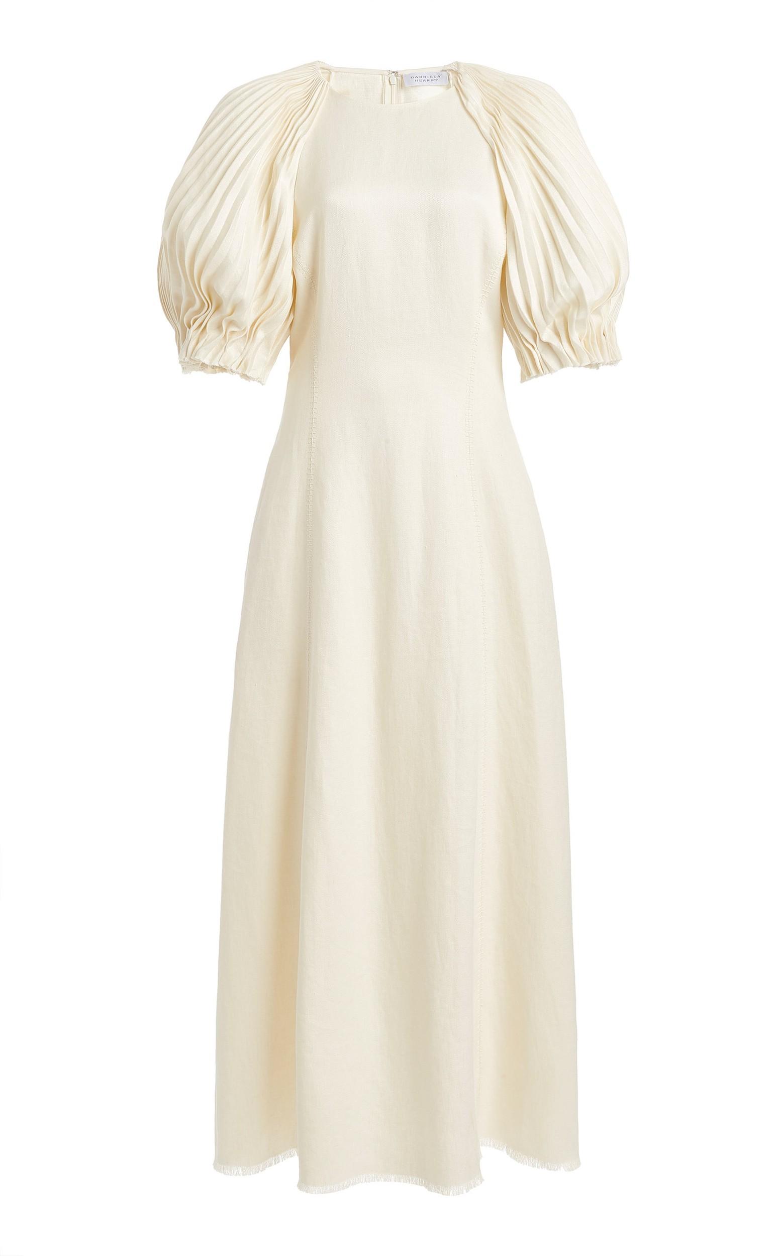 large_gabriela-hearst-white-puga-pleated-sleeve-slub-linen-midi-dress