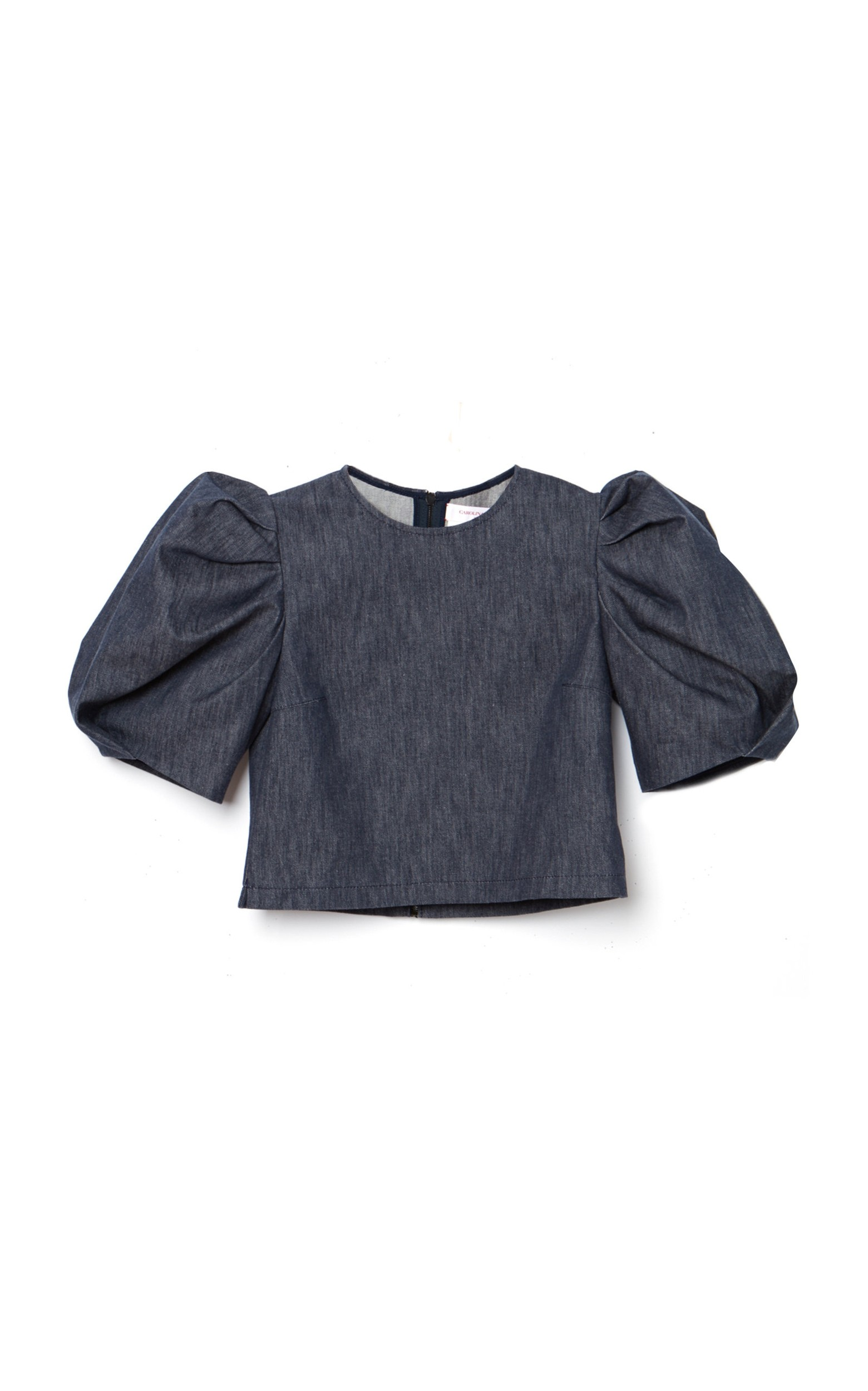 large_carolina-herrera-navy-puff-sleeve-stretch-denim-crop-top